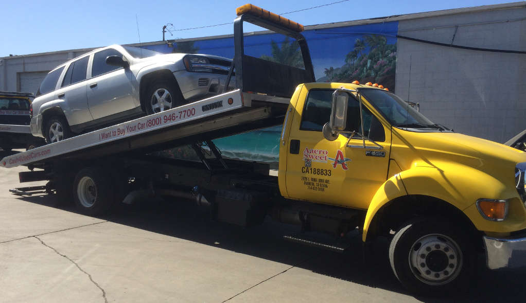 Cash For Cars in San Bernardino premium Flatbed Tow Truck